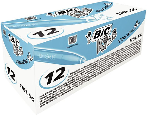 Boîte de 12 feutres Visacolor 1161 bleu clair