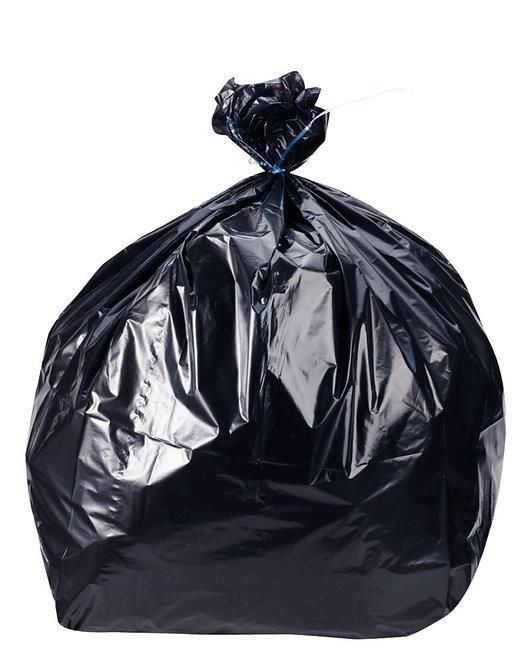 Rouleau de 20 sacs poubelles noir 30 litres déchets standards
