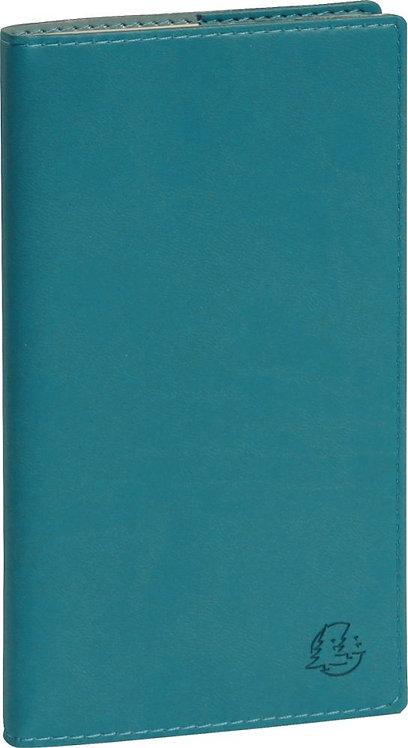 Agenda semainier temporel 16 bleu canard