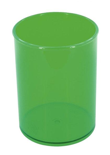 Pot à crayons transparent vert