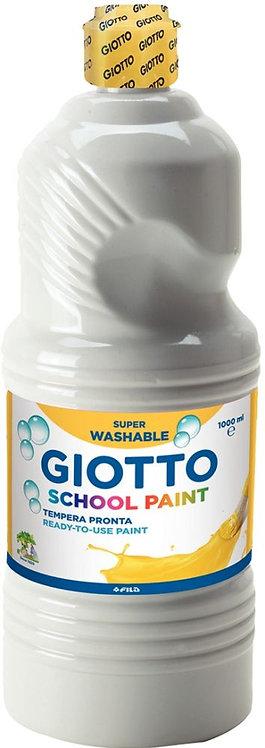 Flacon de 1 Litre de gouache liquide lavable GIOTTO blanc
