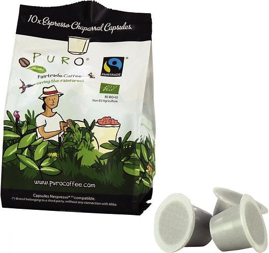 Boîte de 10 capsules nespresso fort PURO