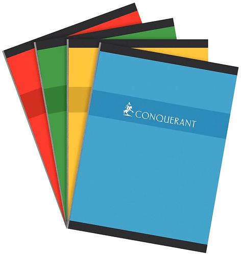 Cahier brochure 192 pages format 24x32 cm réglure séyès papier 70g
