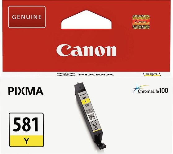 Cartouche d'encre à la marque CANON CLI581Y jaune