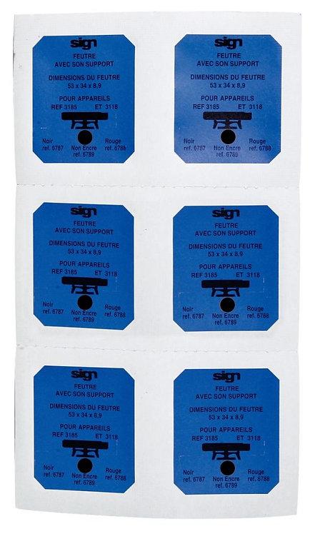 Blister de 6 recharges pré-encrées noir M6787