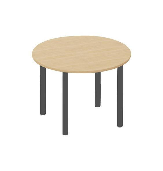Table ronde Easy ø 120 cm - Piétement Gris anthracite