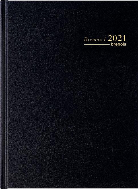 Agenda journalier Bremax 1 jour à la page noir