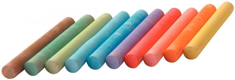 Boîte de 100 craies enrobées couleurs assorties