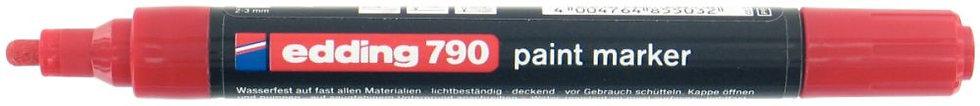 Marqueur peinture permanente E 790 pointe ogive rouge