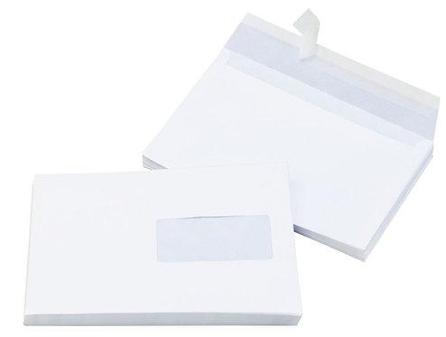 Boîte 500 enveloppes blanches C5 162x229 80g/m² fenêtre 45x100 bande  protection