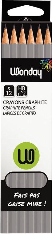 Boîte de 12 crayons graphite ordinaires HB