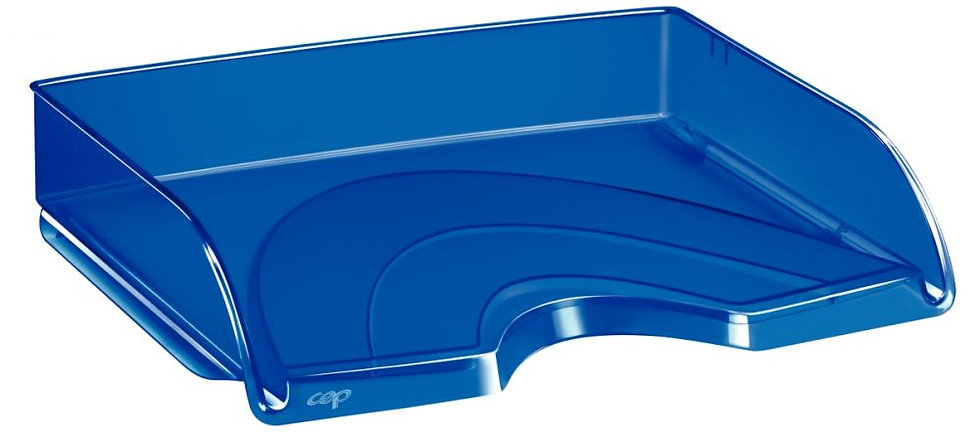 Corbeille à courrier à l'italienne transparent bleu
