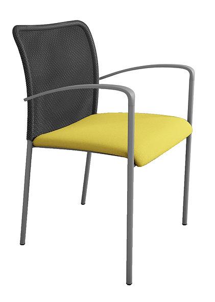 Chaise VICKY - Résille noire avec accoudoirs