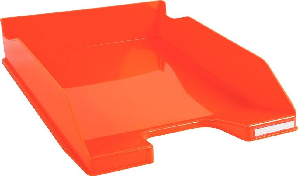 Corbeille à courrier A4+ orange gloss