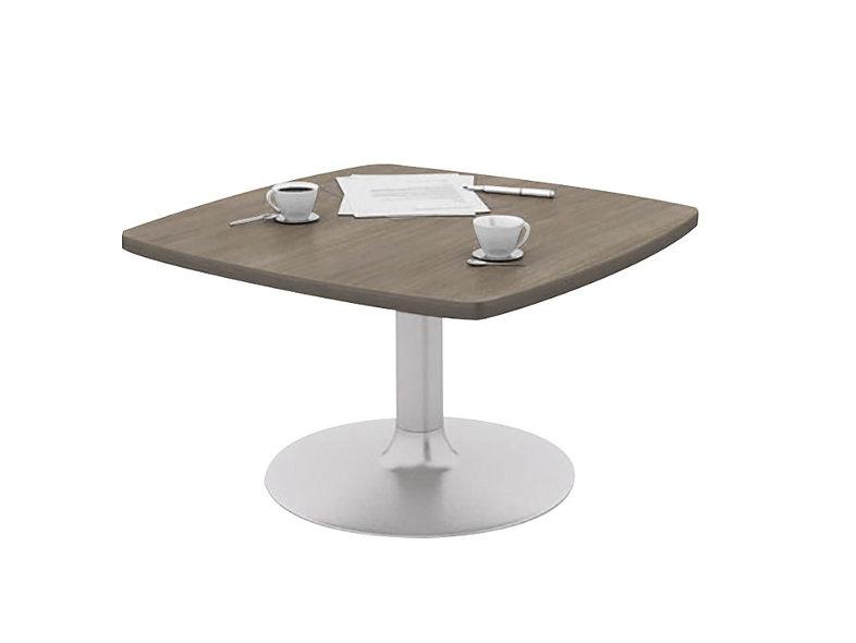 Table basse carrée côtés cintrés