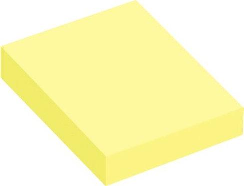 Lot de 12 blocs de 100 feuilles de notes repositionnables 4x5cm jaune