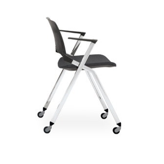 Chaise EMILE avec accoudoirs  - Piétement sur roulettes