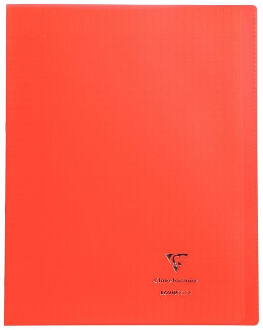 Piqûre 96 pages 24x32 cm KOVERBOOK, seyès 90g Couverture en polypropylène, rouge