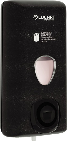 Distributeur de savon liquide rechargeable recyclé noir
