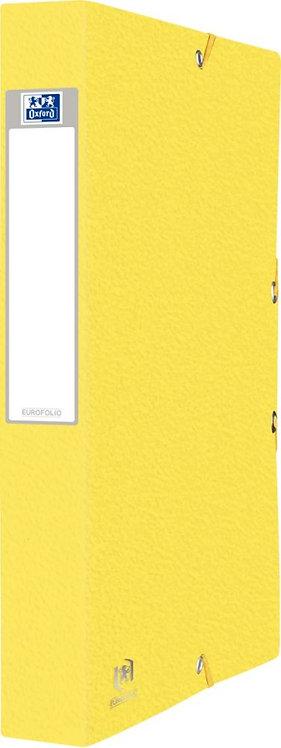 Boîte de classement EUROFOLIO en carte grainée, dos de 40 mm, coloris jaune