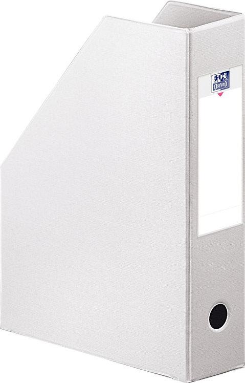 Boite de classement en PVC à pan coupé dos 7 cm blanc