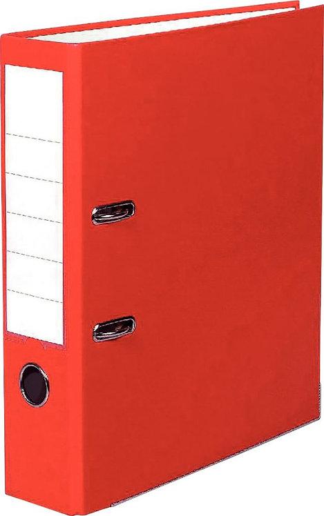 Classeur à levier pour format A4 dos 8 cm rouge