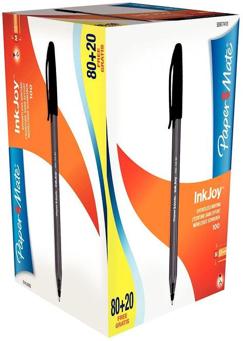 Boite de 100 stylos Inkjoy 100 noirs dont 20 gratuits