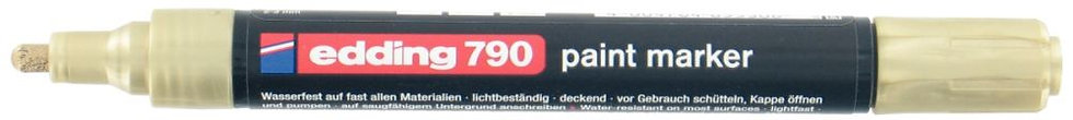 Marqueur peinture E 790 pointe ogive or