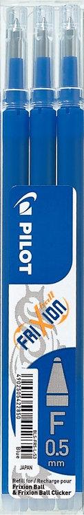 Etui de 3 recharges pour stylo Frixion pointe fine bleu