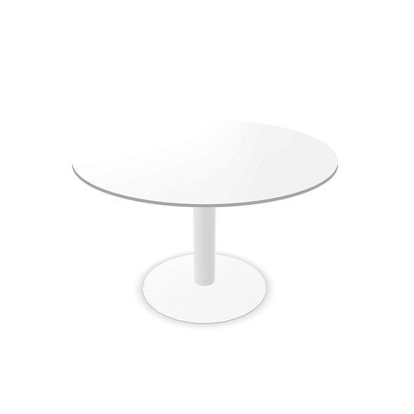 Table de réunion ronde WEST - Piétement Blanc