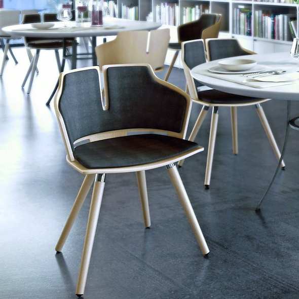 Chaise AGATHE - 4 pieds bois