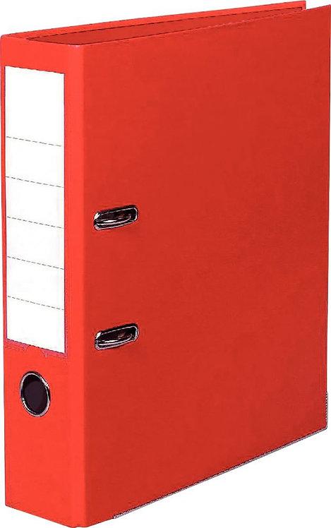 Classeur à levier tout plastique pour format A4 dos 8 cm rouge