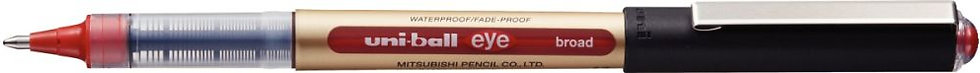 Roller uniball eye UB150 pointe large rouge