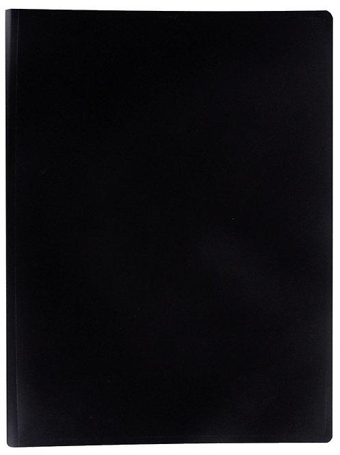 Protège documents couverture souple en polypropylène 40 vues noir