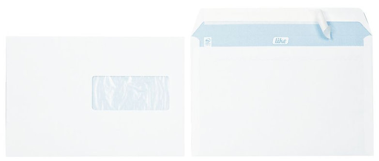 Boîte de 500 enveloppes blanches C5 162x229 80g/m² fenêtre 45x100 bande siliconé