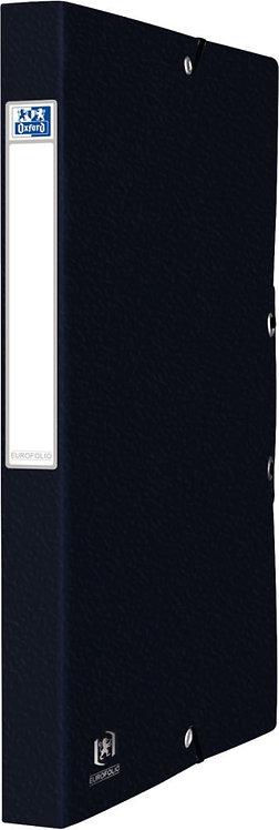 Boîte de classement EUROFOLIO en carte grainée, dos de 25 mm, coloris noir