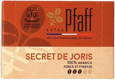 Boîte de  10 capsules nespresso secret de Joris