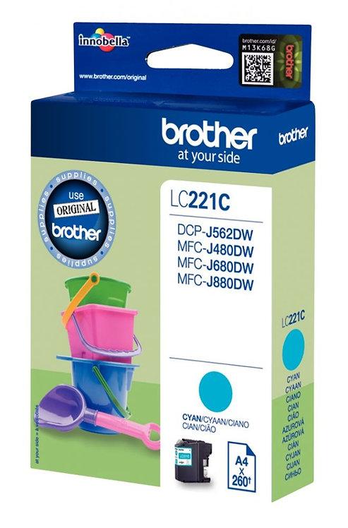 Cartouche jet d'encre à la marque Brother LC221C cyan