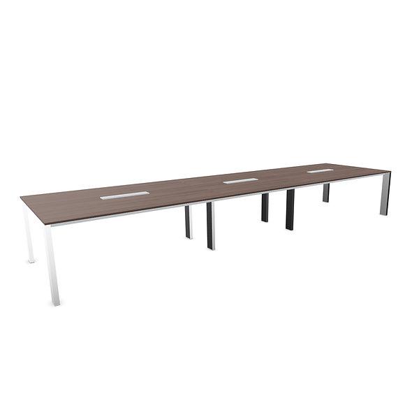 Table de conférence MINIMAX L. 490 cm - Plateau bois - Piétement acier