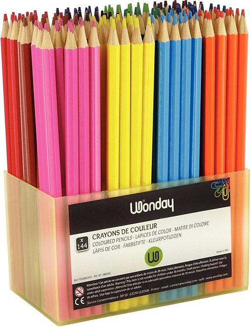 Classpack de 144 crayons de couleur