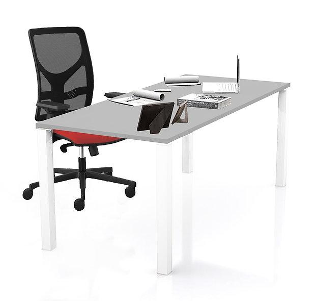 Table de bureau Coworker - Piétement blanc