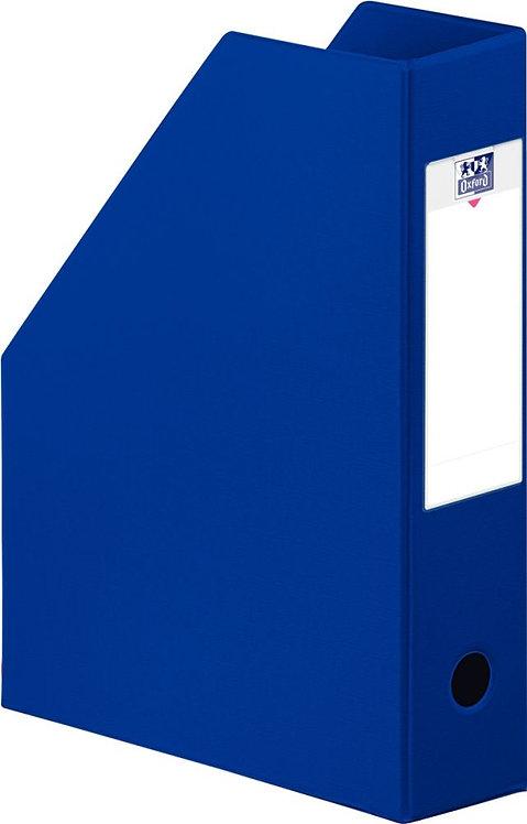 Boite de classement en PVC à pan coupé dos 7 cm bleu