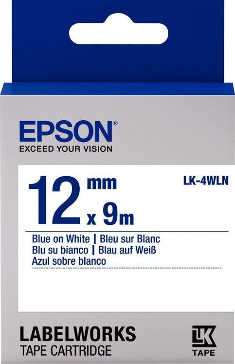 Recharge Epson LK 12mmx9m bleu/blanc