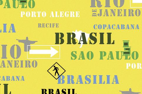 Tapis de sol absorbant BRAZIL FLAG