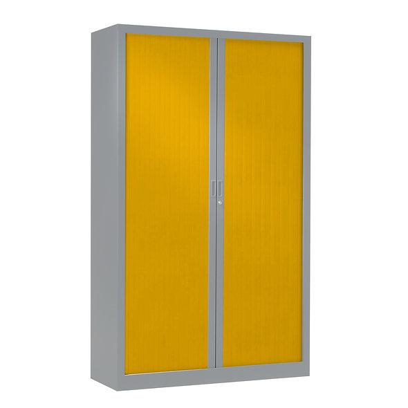 Armoire à rideaux bicolore 198 x 120 cm - Corps Aluminium - Rideaux Color