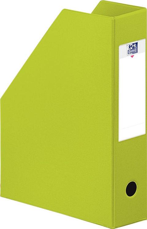 Boite de classement en PVC à pan coupé dos 7 cm vert clair