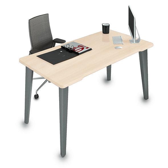 Table de bureau Allegrine - Piétement Gris anthracite