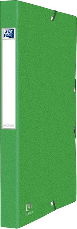 Boîte de classement EUROFOLIO en carte grainée, dos de 25 mm, coloris vert