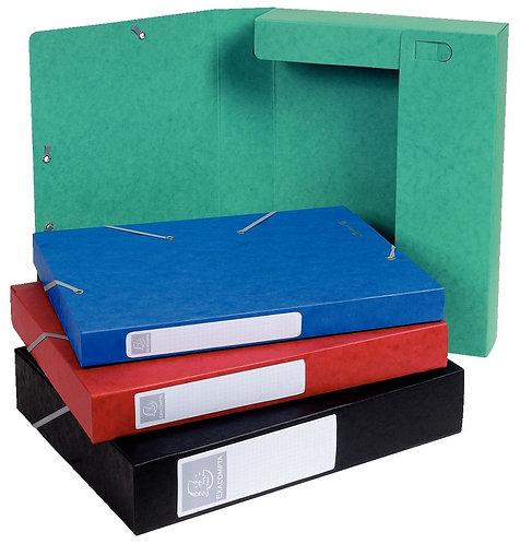 Boîte classement CARTOBOX carte lustrée 7/10ème dos 40 mm Bleu