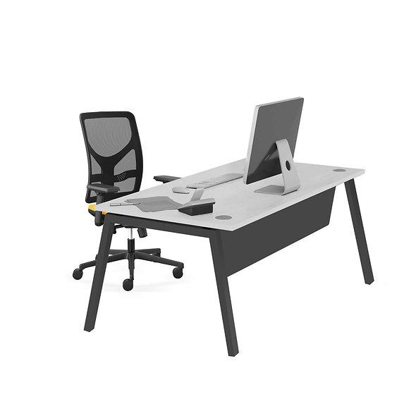 Table de bureau Porto - Piétement gris anthracite